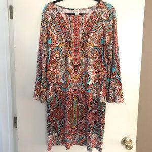 Chico's cotton multi colored dress